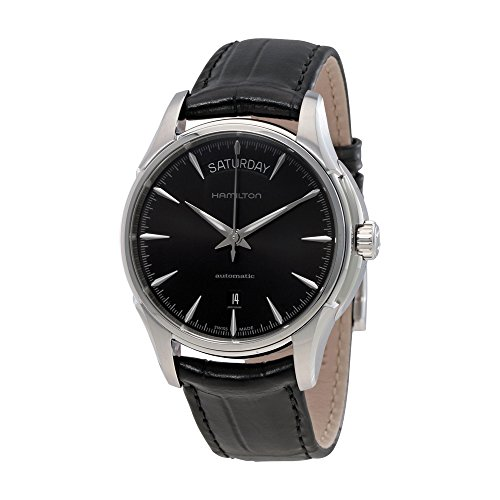 Hamilton Men's HML汉密尔顿 Jazzmaster Analog Display Swiss Automatic Black Watch
