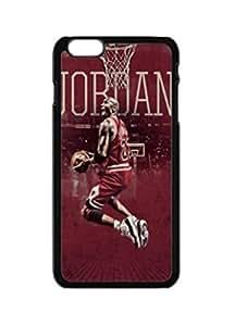 "Star Jordan design for Apple iphone 6 case,Fashion custom skin Tpu Rubber cover case for iphone 6 4.7"" case -Black"