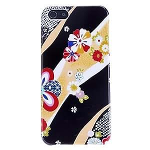 Rayas de colores y el caso duro del patrón de flor para el iphone 5/5s