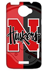 NCAA Nebraska Cornhuskers American Football Protective Case Cover for HTC One X+