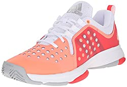 adidas Performance Women's Barricade Classic Bounce W Training Footwear,Sun Glow Yellow/Metallic Silver/Shock Red,6 M US
