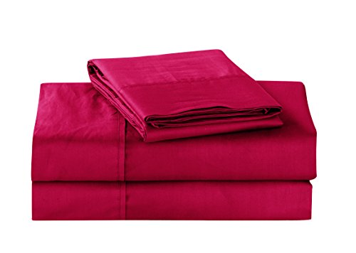 Unique Home Super Soft Microfiber 200 Count Burgundy Queen Sheets & Pillow Set