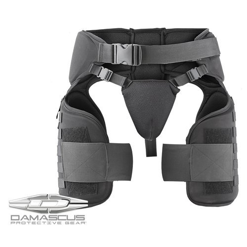 Damascus Protective Gear TG40 Imperial Thigh Groin Protector, Black