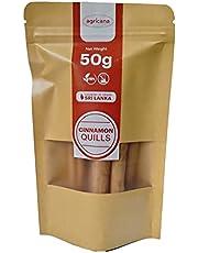 Agricana Cinnamon Roll Sticks (C5&C4 Grade) True & Authentic Ceylon Cinnamon Quills 50 G Vegan & Gluten Free. 100% Natural and Chemical Free Intense Ceylon flavour Cinnamon Sticks