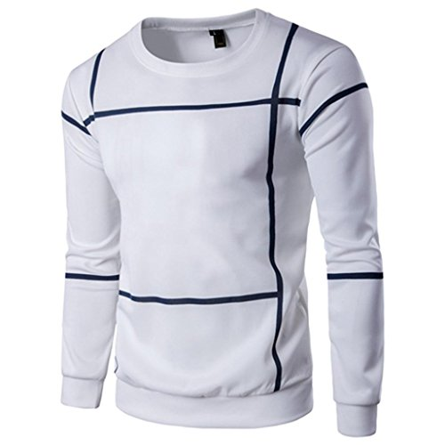 HOT ! Ninasill Mens Autumn And Winter Fashion Striped Long Sleeve Men Pullover Coat O Neck Sweater Outwear