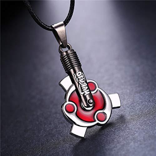 Algol - MOSU 20/pcs Anime Naruto Necklace Uchiha Izuna with Madara Mangekyou Sharingan Pendant Cosplay Toy Jewelry can