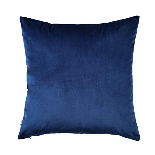 Artcest Cozy Solid Velvet Throw Pillow Case Decorative Couch Cushion Cover Soft Sofa Euro Sham with Zipper Hidden, 18