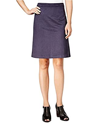 Tommy Hilfiger Womens Faux Suede Knee Length Straight Skirt