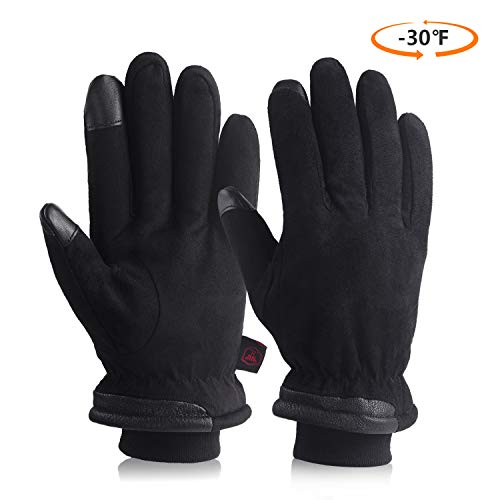 - Cold Weather Gloves Waterproof & Windproof Suede Leather For Men And Women