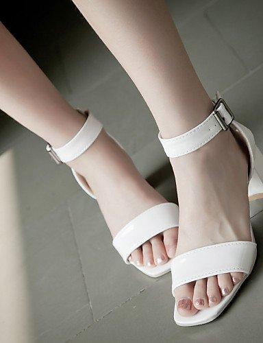 ShangYi talons blanc Chaussures pour tenue talons sandales blanc décontractée peep argent toe 789 or femmes extérieur qpCExwCnS