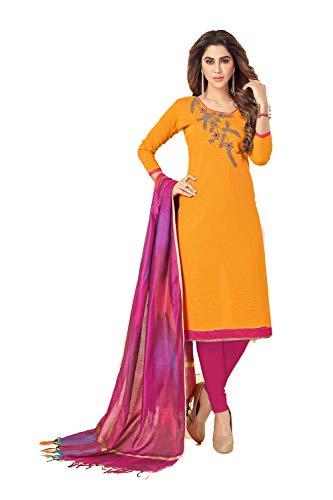 ywear Women Ethnic Diwali Traditonal Orange Salwar Kameez. ()