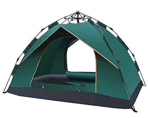 SAHASAHA ワンタッチテント テント 1-2人用 設営簡単 防災用 キャンプ用品 撥水加工 紫外線防止 登山 折りたたみ 防水 通気性 アウトドア 210 * 140 * 110cm グリーン 収納ケース 日本語説明書付き