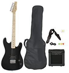 """This classic style guitar package from Davison Guitars includes everything you will need start playing right out of the box. The full size 39"""" guitar features a maple fretboard and maple neck. Comes with an amp with an Overdrive (distortion) ..."""