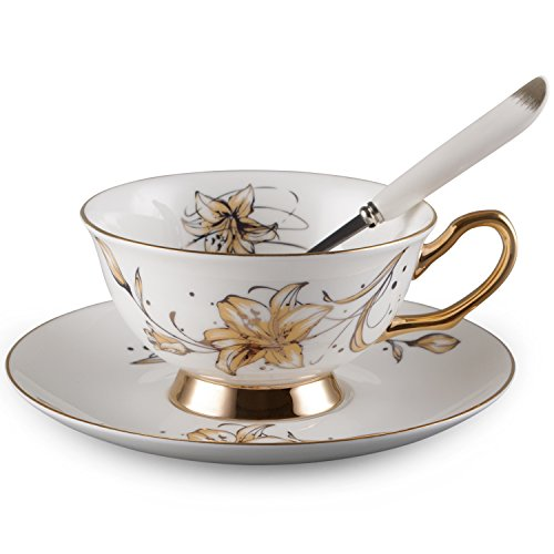 (Neolith Bone China Teacup Spoon and Saucer Boxed Set)