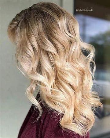 VeSunny Blonde Hair Extensions Ombre Clip in Human Hair 7pcs/120g, Golden  Blonde Mix Bleach Blonde