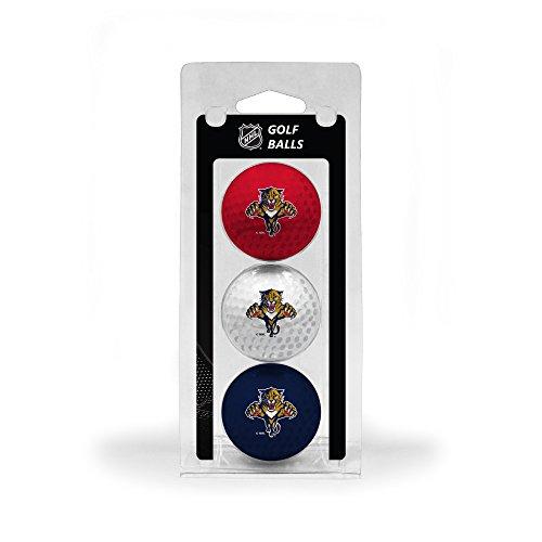 Team Golf NHL Florida Panthers Regulation Size Golf Balls, 3 Pack, Full Color Durable Team Imprint