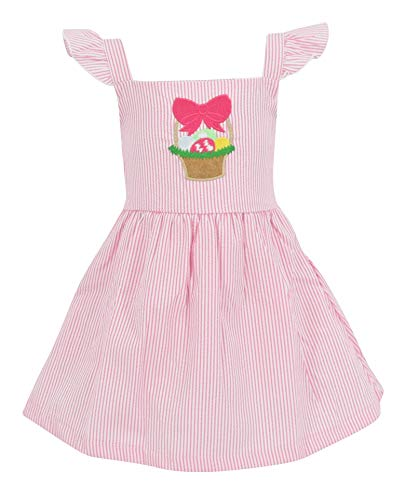 Unique Baby Girls Easter Basket Seersuck Dress (3t)