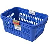 Wham Lot de 3Bleu foncé de rangement pratiques pour fruits et légumes pour cuisine/bureau en plastique Taille M