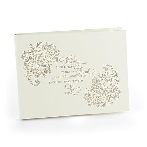 Hortense B. Hewitt 40424 Lace Shimmers Wedding Guest Book - Shimmer Spiral