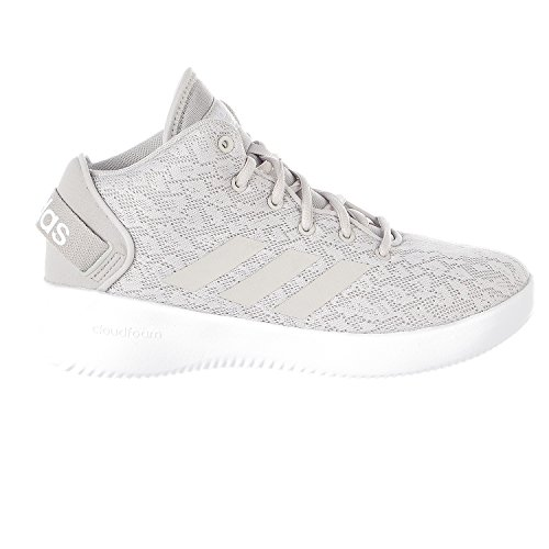 adidas NEO Women's CF Refresh Mid W Basketball-Shoes, Grey One/Grey One/White, 8.5 Medium US (Women Adidas Basketball Shoes)