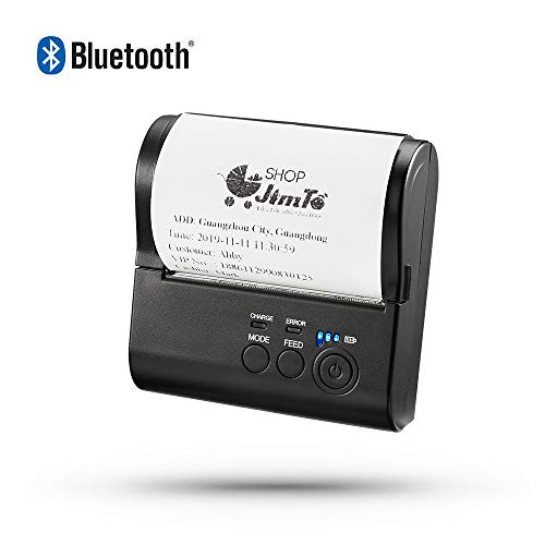 Bluetooth Thermal Receipt Printer, LOSRECAL Mini Wireless Portable Personal Bill Printer for Retail Stores Restaurants Factories Small Business,80mm Mobile POS Printer Compatible with Android/Windows