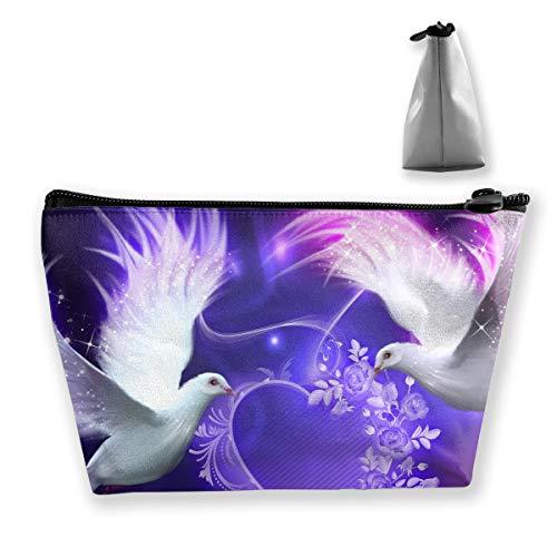 Makeup Bag Trapezoidal Storage Bag Dove Cave Portable Cosmetic Bag Ladies Mobile Travel Bag