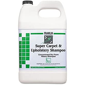 Franklin Super Carpet and Upholstery Shampoo Designed for Dry Foam and Wet Rotary Machine, 1 Gallon each -- 4 Gallons per case.
