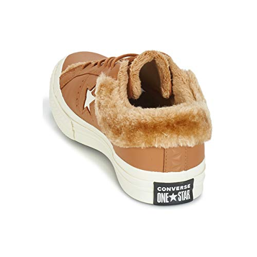 Mujeres Star Converse One Moda 40 Camel Zapatillas Leather Bajas Ox WqUqrY45