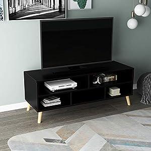 soges Meuble TV,Bancs TV,Tableau TV,Lowboard,Table TV en matériau de Haute qualité avec 5 espaces de Rangement,116,5…