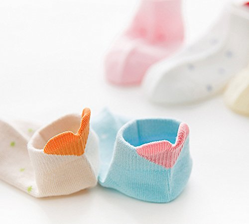 Pack of 5 BaiX Little Girls Cute Heart Low Cut Ankle Socks Kids Summer Socks