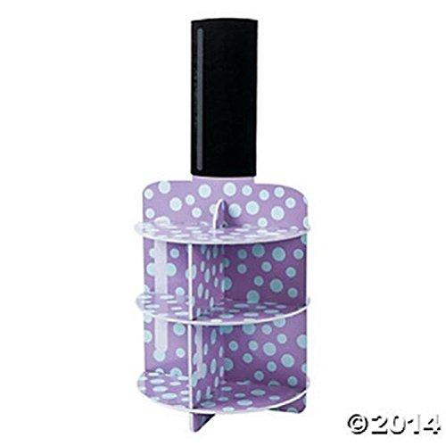 Nail Polish Spa Girl Cupcake Stand Party Diva Make up Purple Hair Salon