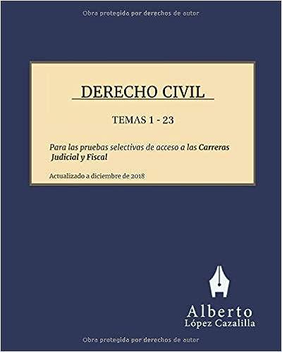 Derecho Civil - Temas 1 A 23: Temas Para La Preparación De Las Pruebas De Acceso A Las Carreras Judicial Y Fiscal por Alberto López Cazalilla epub