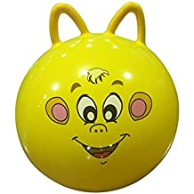 Baby Cartoon Balls - Bouncing Ball toys Inflatable Cartoon Animal Jumping Bounce stress Yoga Health Care toy PVC Cat Ears Shape Balance Balls for Kids Infant and Boys Girls