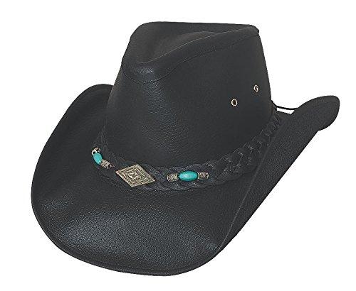 c62bf4156c86c Bullhide Men s Royston Leather Cowboy Hat - 4048Bl at Amazon Men s Clothing  store