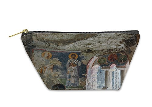 Gear New Accessory Zipper Pouch, An Old Fresco On The Wall Of St Nicholas Church Demre, Large, 5882314GN by Gear New