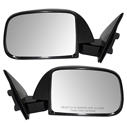 Pair Set Manual Side View Mirrors Sail Mounted Replacement for Toyota Pickup without vent window 8794089147 8791089149