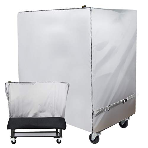 Cooler Cart Cover(New Upgrade) - Universal Fit for Most 80 QT,Super Insulation Cashmere Material,Rolling Cooler (Patio Cooler,Beverage Cart, Rolling Ice Chest) Protective Cover - Super Insulation