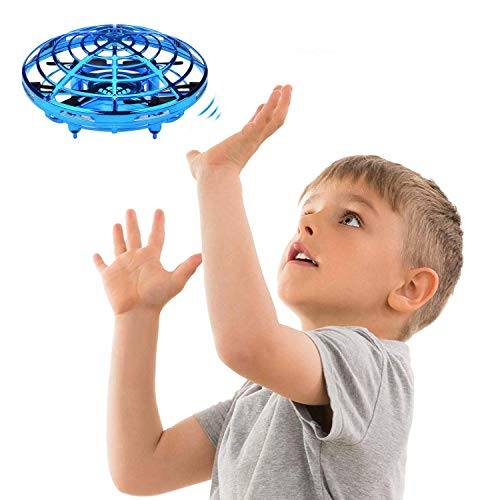 JTORD UFO Flying Toys for Kids Boys Hand-Controlled Flying Ball Interactive Infrared Induction Helicopter Ball 360° Rotating Shinning LED Lights Toys Gifts for Boys Girls Kids(Blue) by JTORD (Image #6)