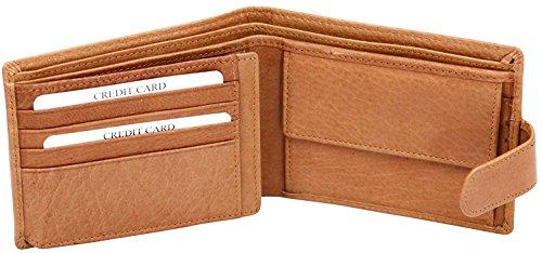 Felda - Herren Geldbörse aus Hunting-Rindsleder - Aufklappbares Design - 8 Kartenfächer & Münzfach - Geschenkschachtel
