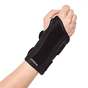 BraceUP® Wrist Support Brace with Splints for Carpal Tunnel Arthritis – Right Wrist (L/XL)