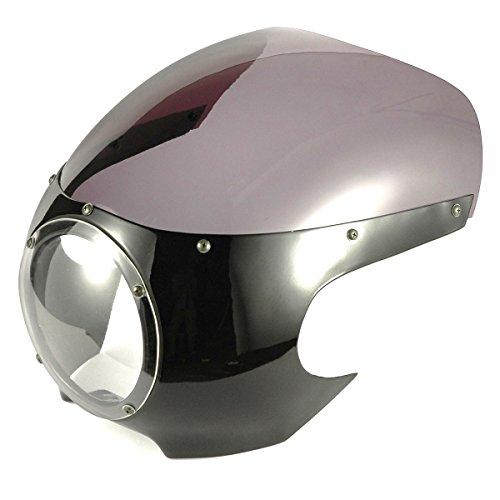 Cafe Racer Headlight Assembly : Cafe racer universal front upper fairing w windscreen