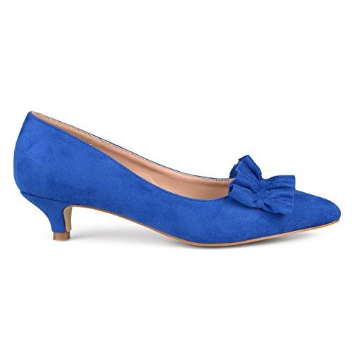 Brinley Co Womens In Camoscio Faux Suede Con Tacco Blu