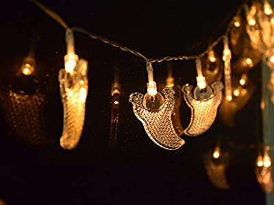 LEEHUR LED String Lights, Battery Operated Halloween Light Decoration Pumpkin String Light for DIY Halloween Night Bedroom Wedding Parties Bistro Pergola Porch Letters
