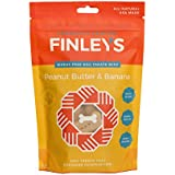 Finley's Barkery Peanut Butter & Banana Wheat-Free Dog Treats – Natural Crunchy Limited Ingredient Dog Biscuits Free of Corn & Soy (8 oz)