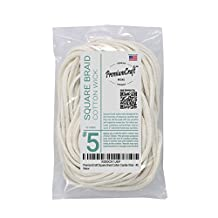 PremiumCraft Square Braid Cotton Candle Wick - #5