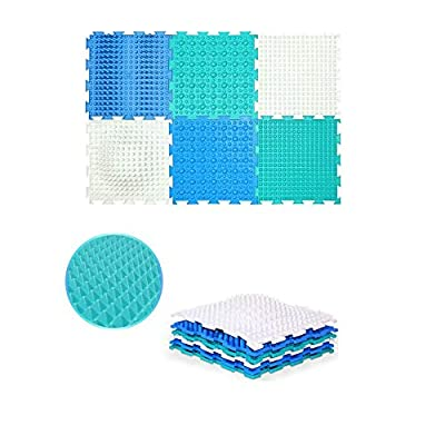 Iceberg Set of Module Massage Game Mats for Kids - Orthopedic Massage Puzzle Floor mats - Carpet: Toys & Games
