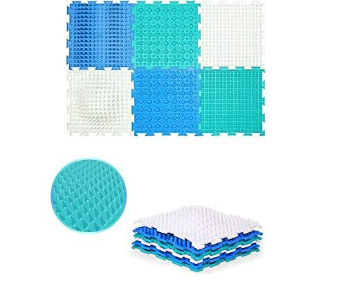 Iceberg Set of Module Massage Game Mats for Kids Carpet Orthopedic Massage Puzzle Floor mats