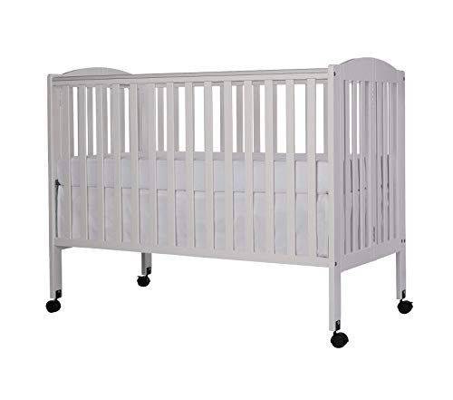 Drеаm Оn Mе Deluxe Premium Collection Full Size 2 in 1 Folding Stationary Side Crib White Decor Comfy Living Furniture ()