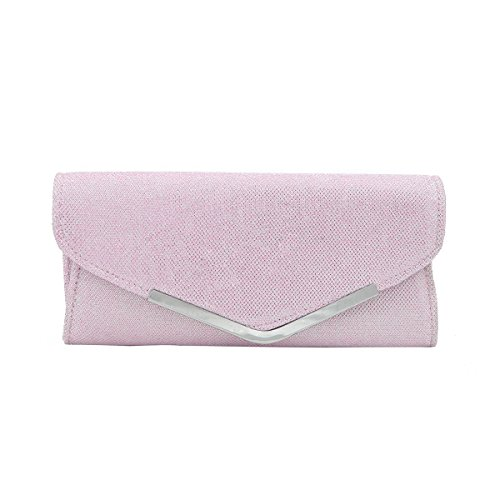 Avail Metallic Premium Diff Colors Clutch Evening Bag Glitter Pink Flap 8dOqdnAH