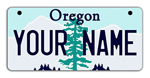 BleuReign(TM) Personalized Custom Name Oregon State Motorcycle Moped Golf Cart License Plate Auto (Seaside Golf)